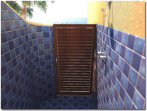 Outdoor Shower at the CalyCanto Casitas