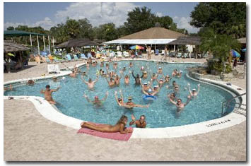 Cypress Cove Nudist Resort Pool Area