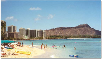 View of Waikiki Beach