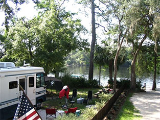 Yellow Jacket RV Resort on the Suwannee River in North Florida