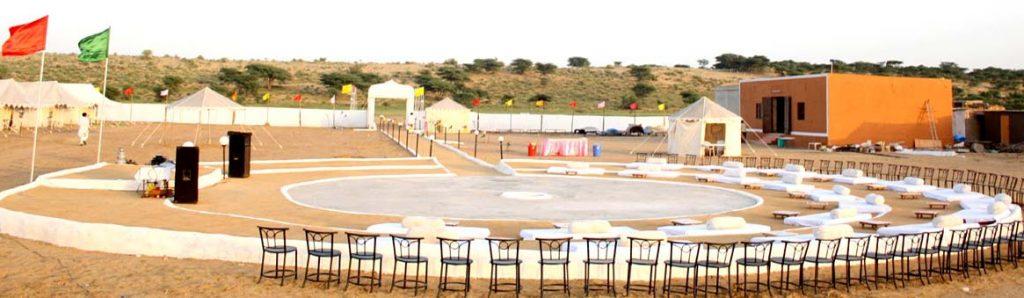 Oasis Camp Sam India Dance Area