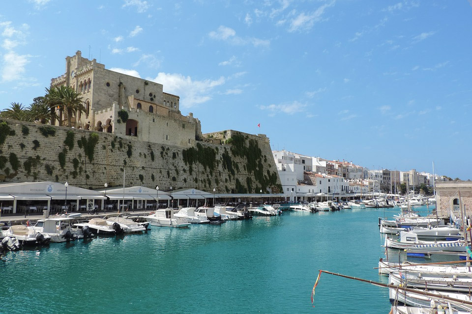 Menorca Harbor Spain