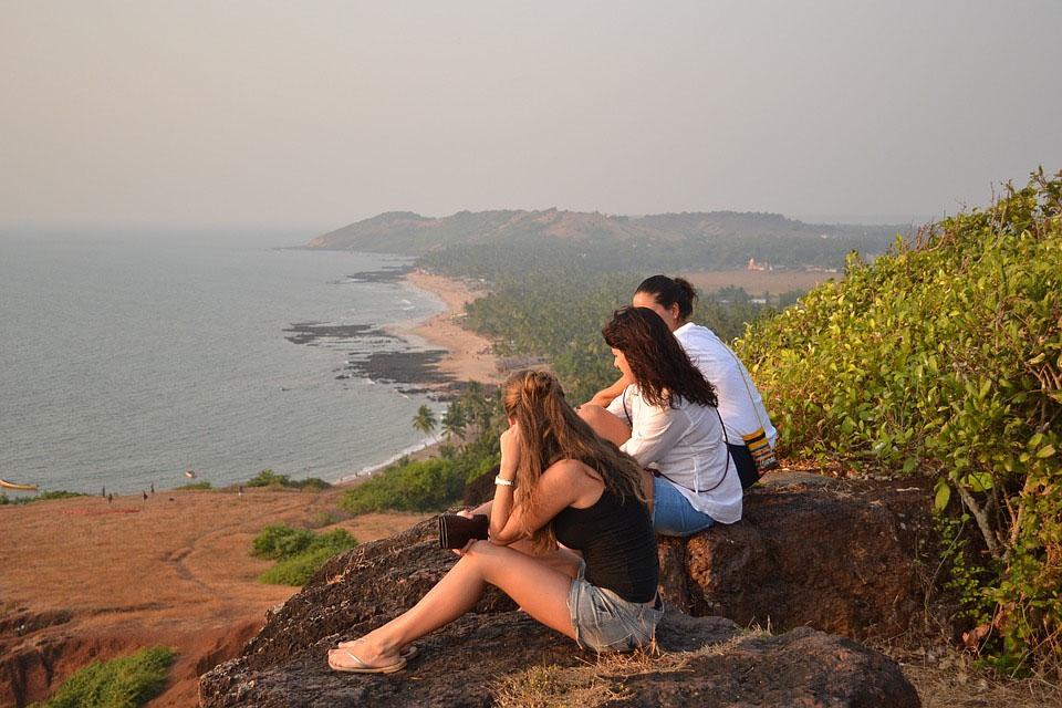Goa Beach Cliffs