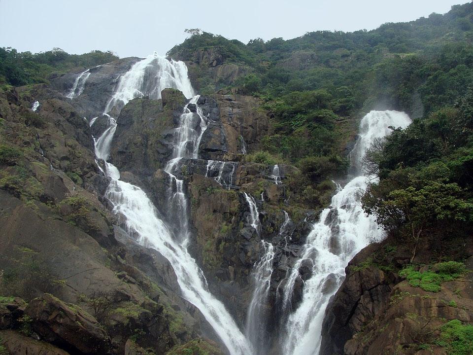 Goa India Dudhsagar Waterfall
