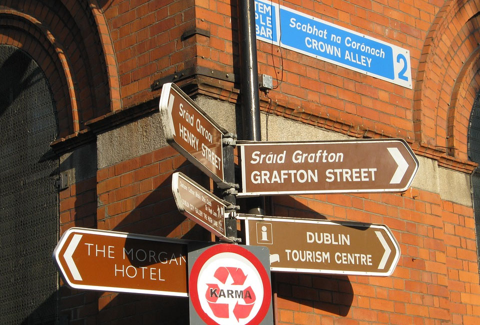 Dublin Street Sign
