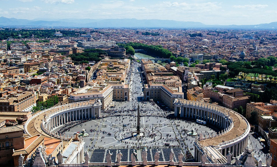 St Peters Square Rome Vatican