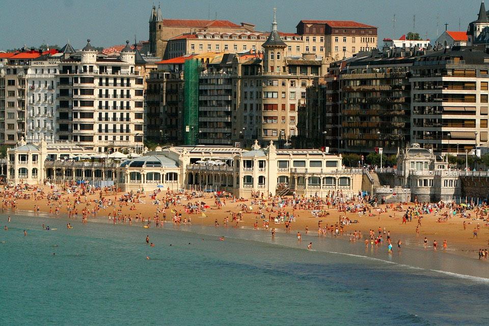 La Concha Beach San Sebastian Spain