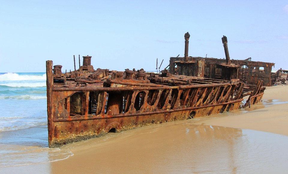Australia Fraser Island Shipwreck