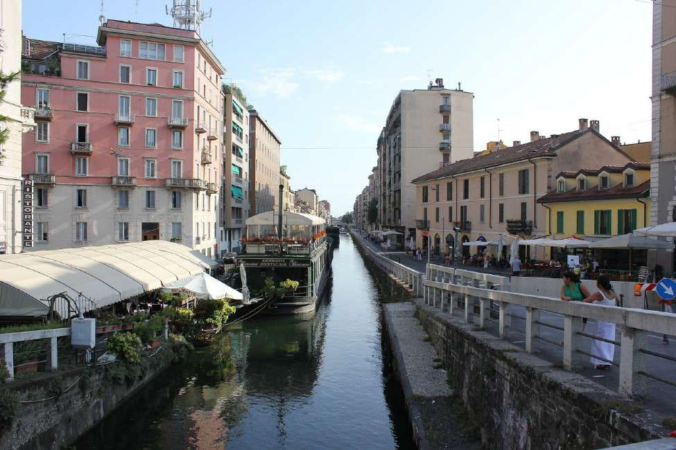 Italy  Milan Navigli District