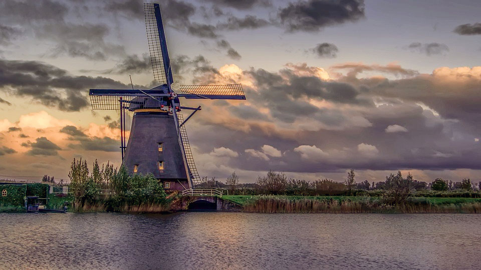 Kinderdijk's Windmills Netherlands