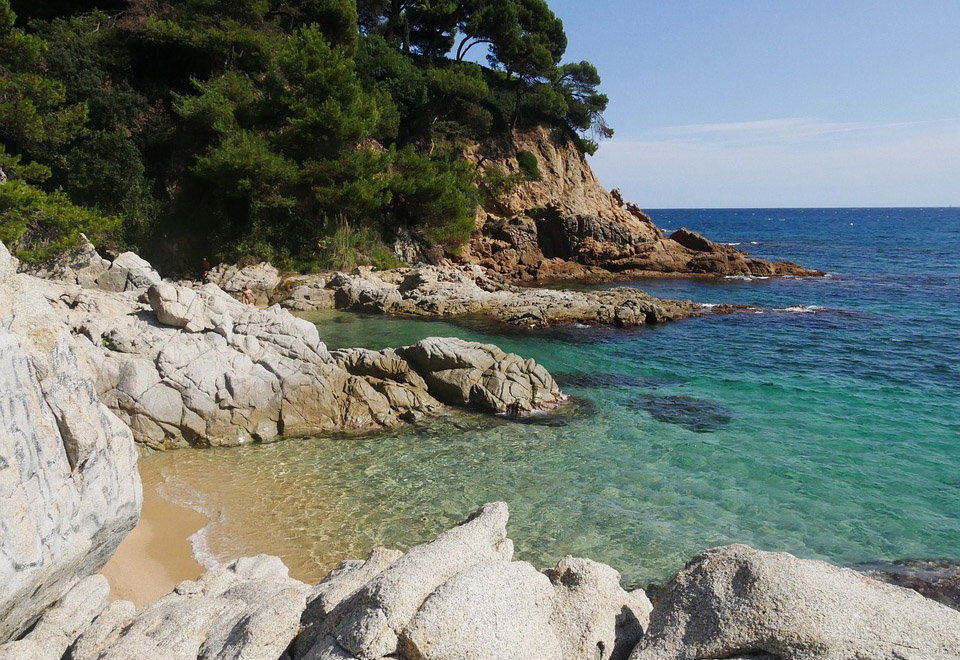 Costa Brava Beach in Catalonia Spain