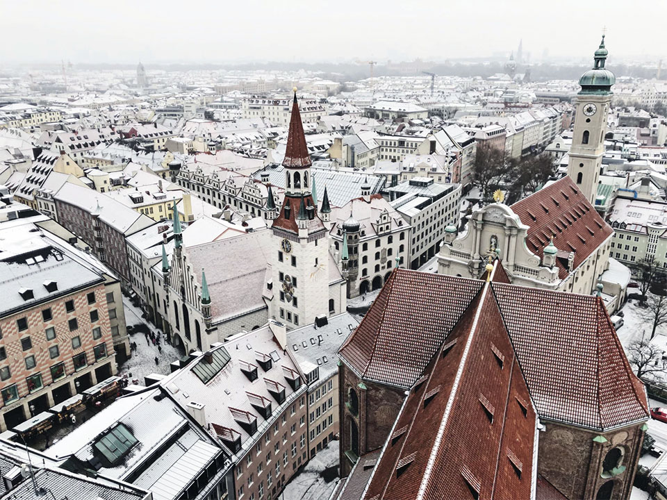 View of Munich from St Peters Church