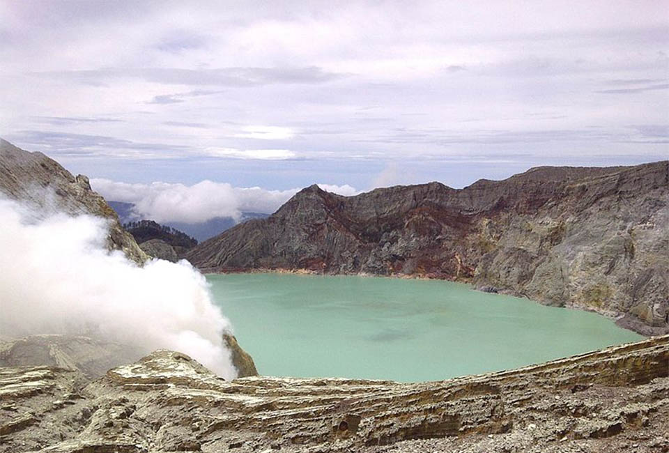 Ijen Mountain Volcano Indonesia
