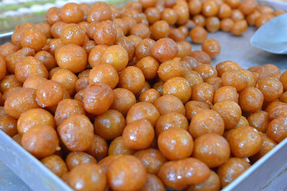 Greek Loukoumades Sweet Pastries