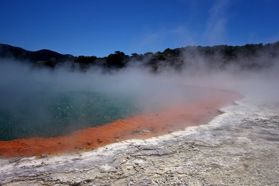 New Zealand Wai-O-Tapu Volcanic Zone