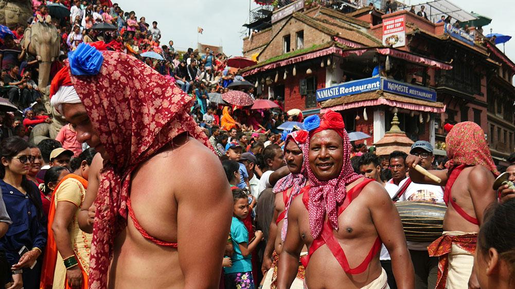 Gai Jatra Cow Dancers Nepal