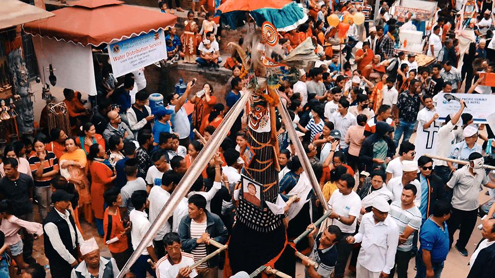 Gai Jatra Festival in Bhaktapur Nepal