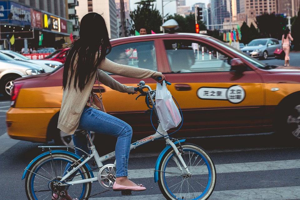 Beijing China Taxi Cab