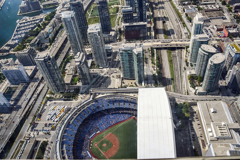 CN Tower View of Bluejays Baseball Field