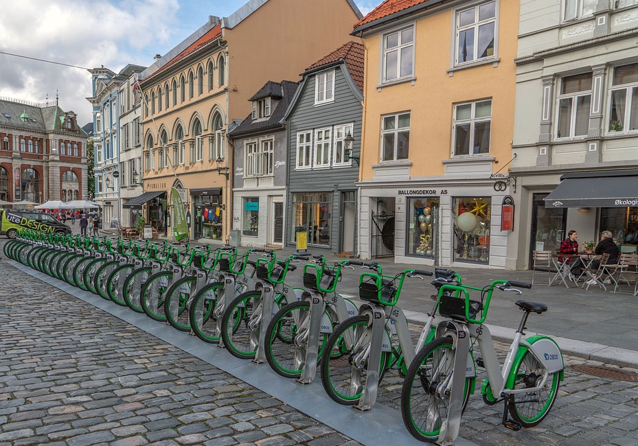 Bicycles in Bergen Norway