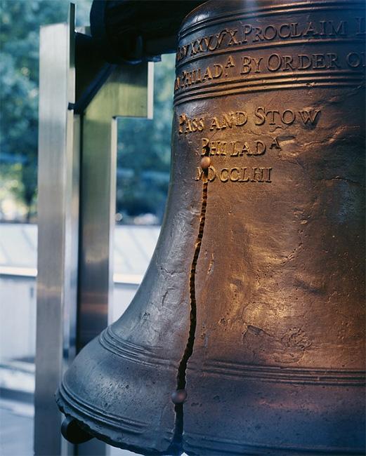 The Liberty Bell on Display in Philadelphia