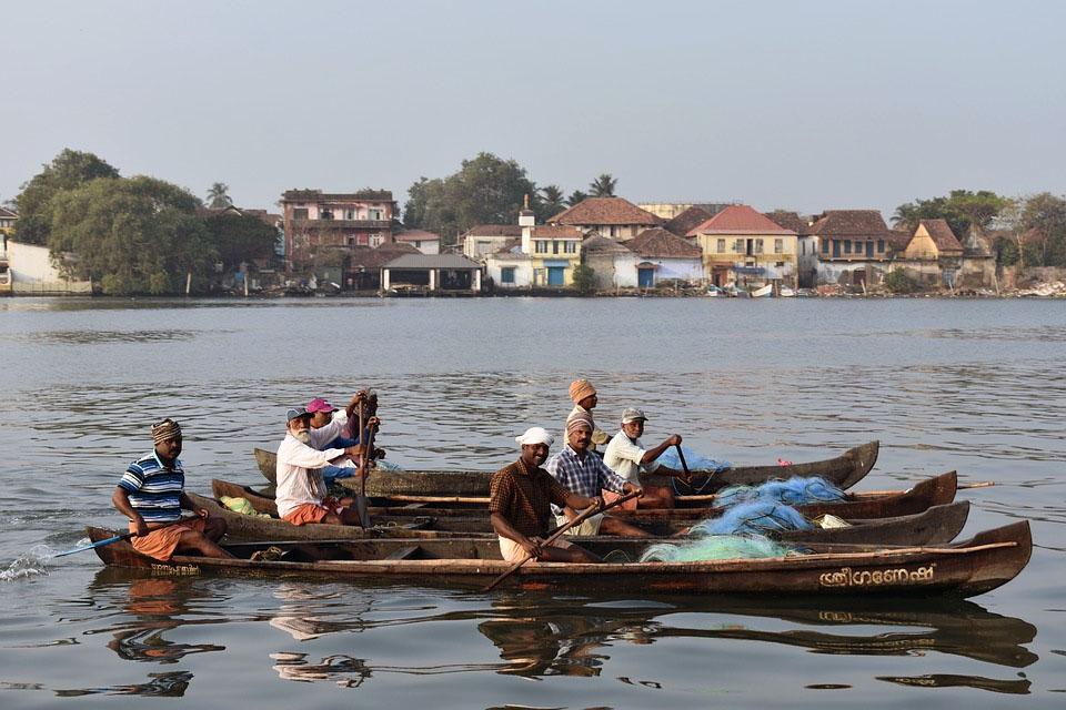 Kochi City in Kerala India