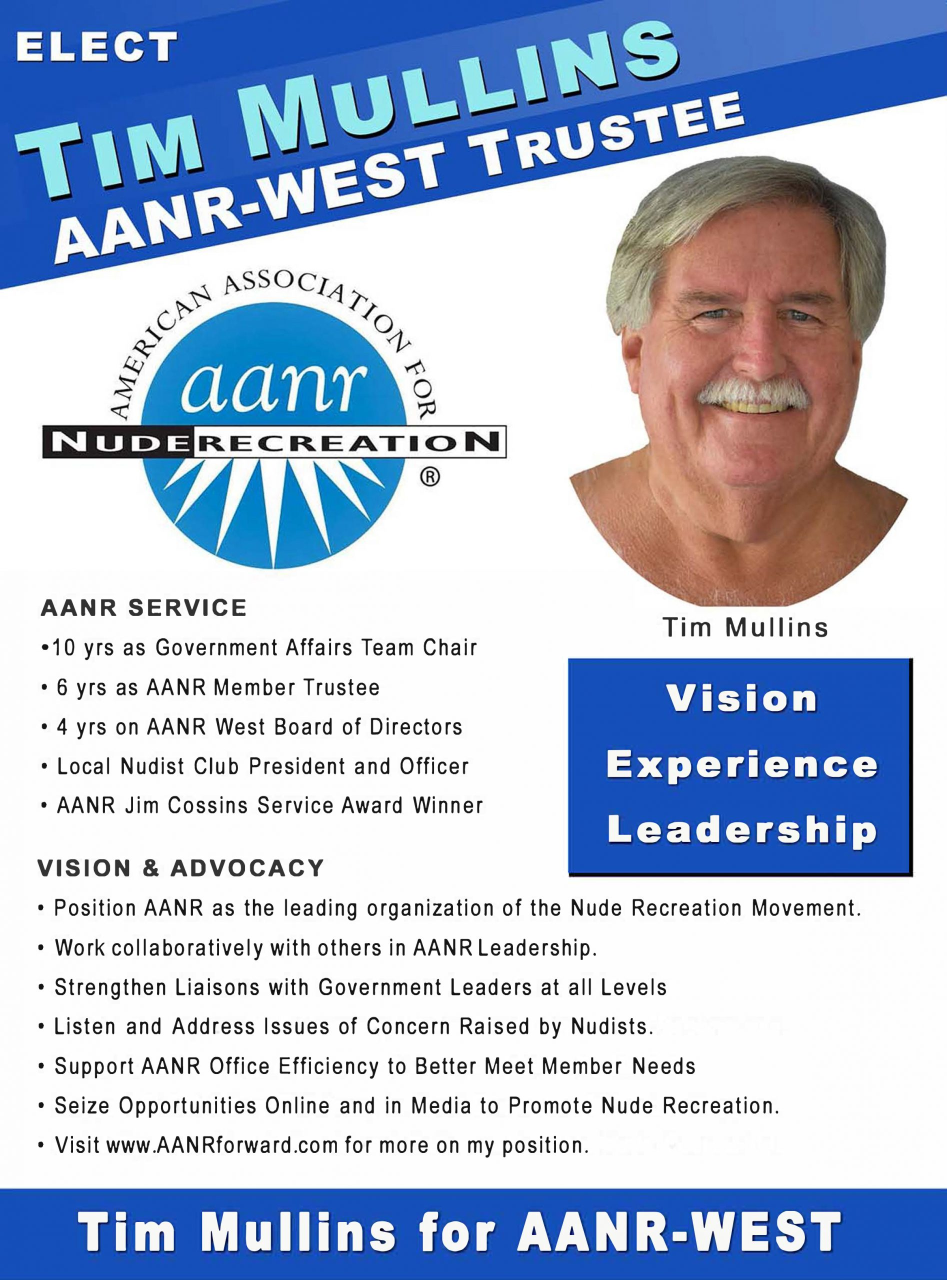 Tim Mullins for AANR West