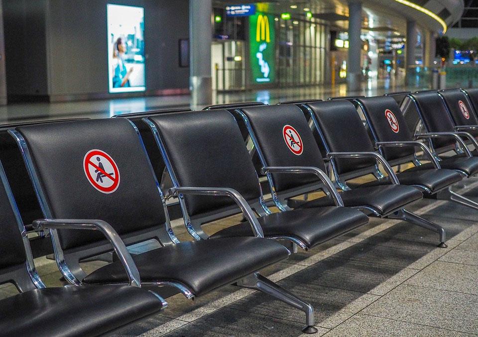 Airport Social Distancing Covid