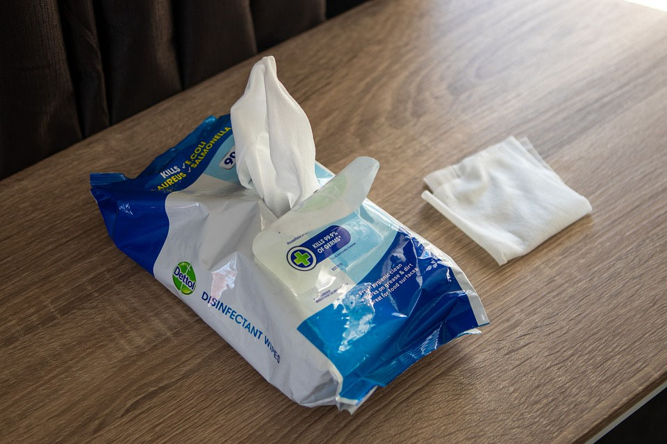 Disinfectant Travel Wipes