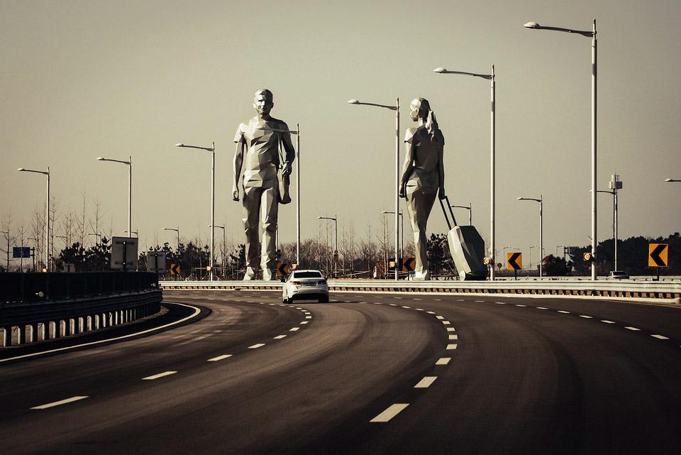 Seoul Korea Airport Statues